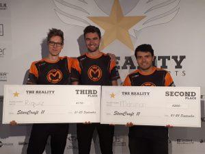 Riquiz, Genix en Marsman na hun toernooi op The Reality 19.