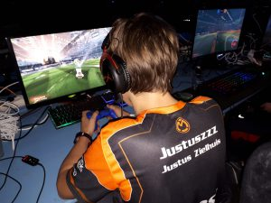 Rocket League speler Justuszzz in competitie.